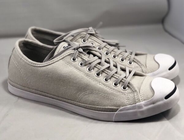Converse Jack Purcell JP LS Low Profile Slip-On Ox Sneaker Ash Grey Gray 154781C