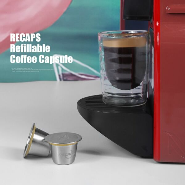 Recaps Reusable Capsules For Nespresso Stainless Steel Refillable Coffee Pods