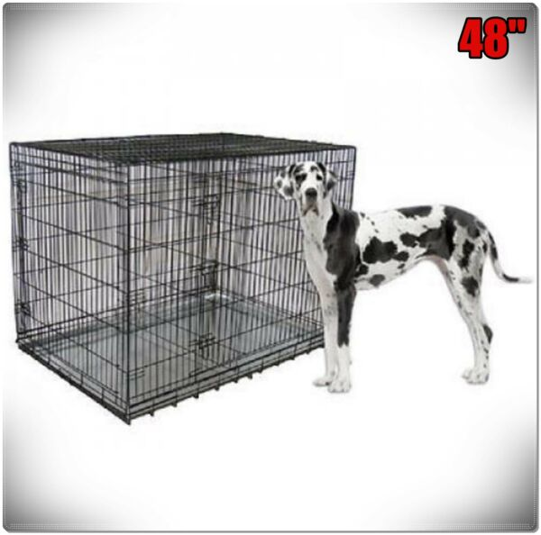 XXL Large Dog Crate Kennel Extra Huge Folding Pet Wire Cage Giant Breed Size $99.99