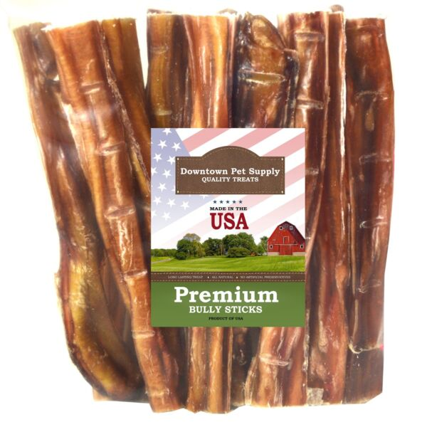 Best Free Range 6quot; amp; 12quot; American Bully Sticks for Dogs Made in USA Odorless $21.99