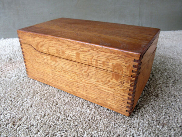Antique File Box Holds 3
