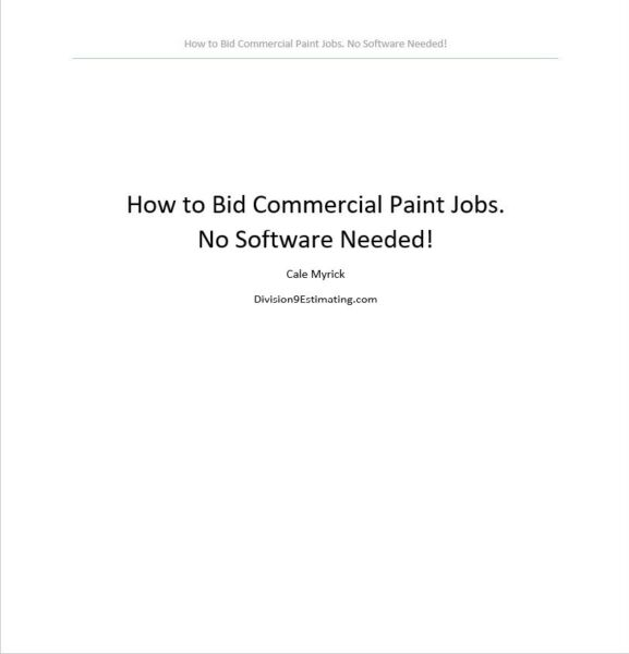 How To Bid Commercial Paint Jobs (E-Book)