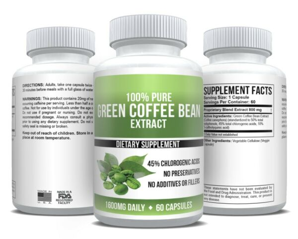 Pure Green Coffee Bean Extract Health & Weight Loss Supplement