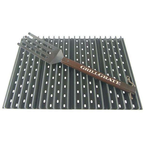 Grill Grate Hard Anodized Aluminum BBQ ToolsAccessories Set Of 4 Never Rust NEW