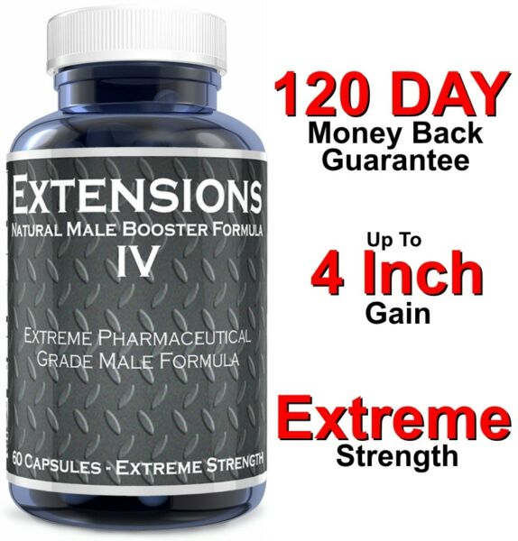 MALE PENIS ENLARGER - 4 INCH GROWTH - ENLARGEMENT PILLS -THICKER LARGER BIGGER