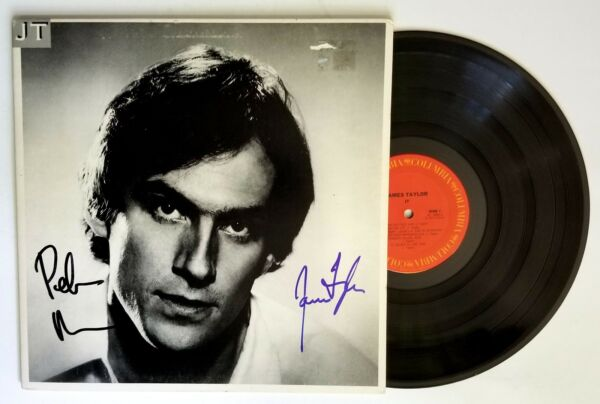 James Taylor & Peter Asher REAL hand SIGNED JT Vinyl Record #2 COA Autographed