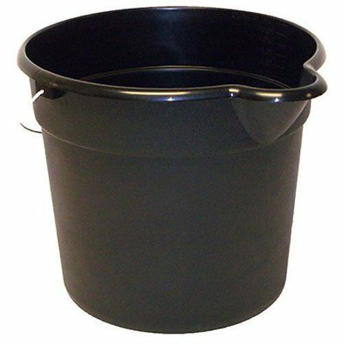 United Solutions PA0042 Black 3 Gallon (12 Quart) Plastic Utility Pail with...