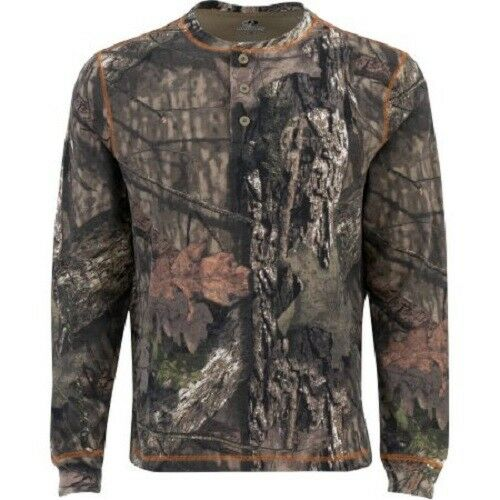 Thermal Henley Mossy Oak Break Up Country 3 Button Long Sleeve Various Size $17.50