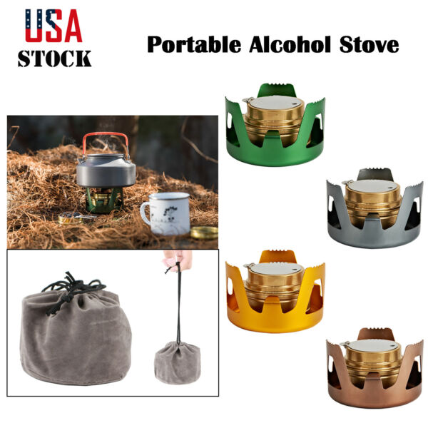 Survival Alcohol Stove Burner For Backpacking Hiking Camping Outdoor Portable US