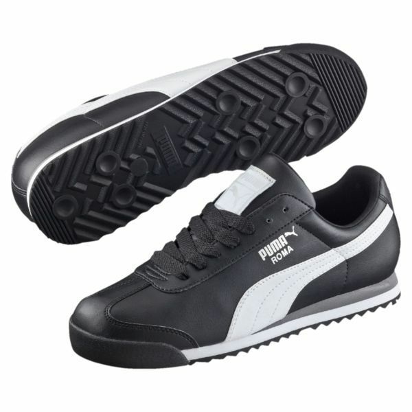 PUMA Roma Basic Classic 35357211 Black White Mens Shoes Sneakers All Sizes