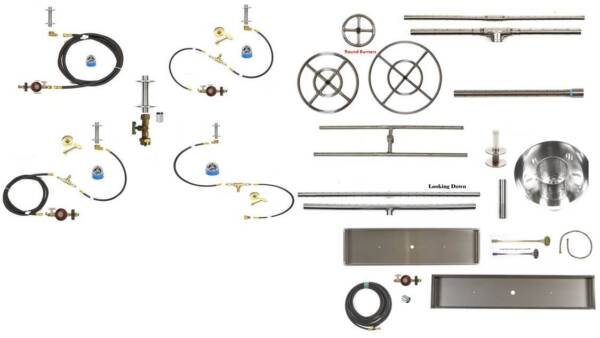 EasyFirePits Outdoor DIY Multi Fire Pit Fire Feature Gas Retail Sampler Kit 2018