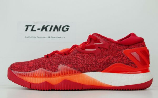 Adidas Crazylight Boost Low 2016 Continental Solar Red Scarlet White B42389 DF