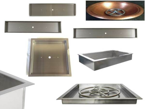 DIY Fire Table Stainless Steel Drop In Inserts Heavy Duty Pans by EasyFirePits