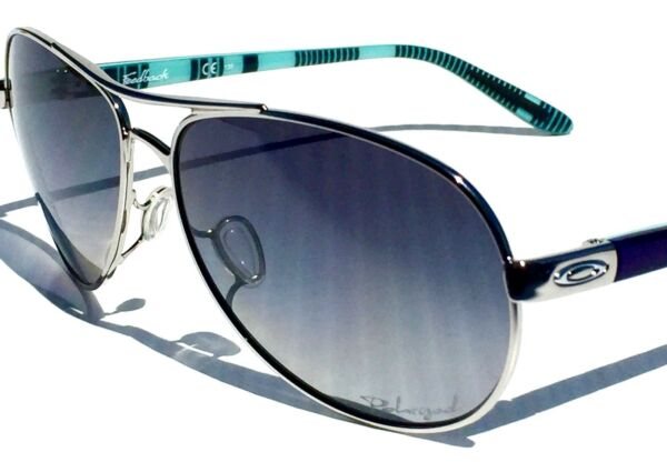 NEW* Oakley FEEDBACK Aviator Chrome w POLARIZED Grey Women#x27;s Sunglass 4079 07 $178.88