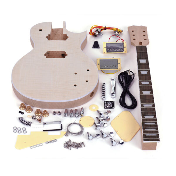 DIY LP ST Electric Guitar Kit MapleMahogany Neck Rosewood Fingerboard Delicate