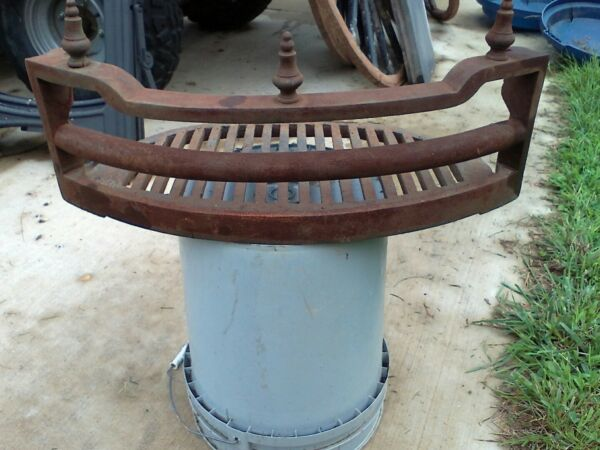 antique 1880's cast iron fireplace grate insert Super heavy whooks