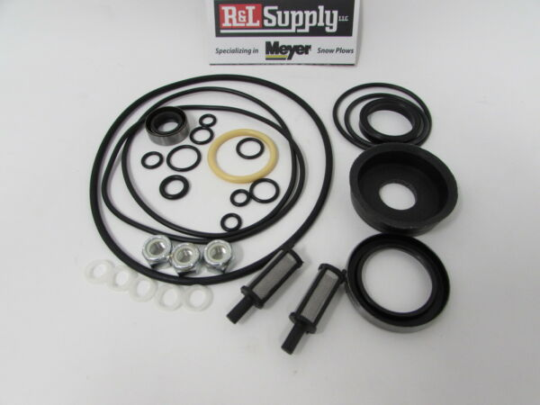 MEYER SNOW PLOW PUMP E50 V66 E60 E60-H E61-H BASIC SEAL KIT W FILTERS 15707