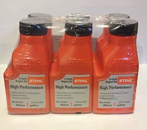STIHL MIXING OIL 1 GALLON HP 2 CYCLE ENGINE OIL 6 PACK $18.95