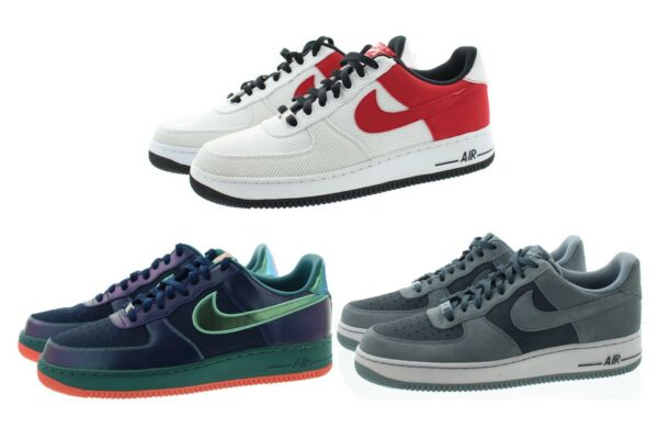 Nike 488298 Mens Air Force 1 Low Top Leather Basketball Athletic Shoes Sneakers