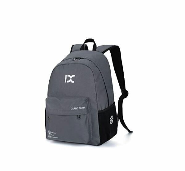 Gray Backpack Small Lightweight Day Pack Tablet Travel Bag Hiking Pack $11.59