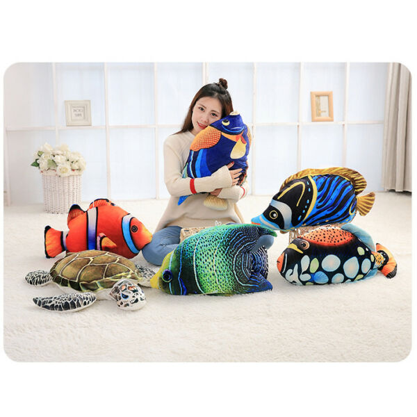 Design Creative Decorative Realistic 3D Fish Turtle Cushion Pillow Gift Soft Toy GBP 19.99