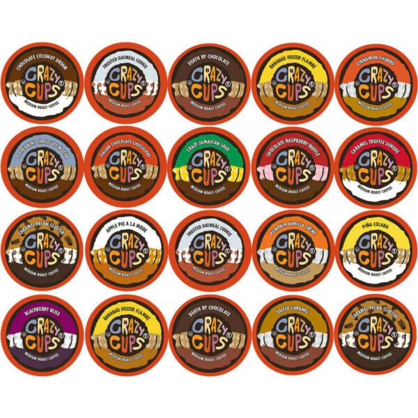 Crazy Cups Flavored Coffee K-Cups Variety Creamy Dreamy Sampler Pack 20 Ct NEW