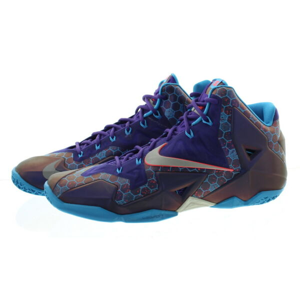 Nike 616175 Men Lebron James XI 11 Summit Lake Hornets Basketball Shoes Sneakers