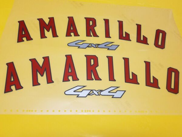 Pair Amarillo 4x4 Decals for 06 Ford Super Duty or other Makes TOP QUALITY