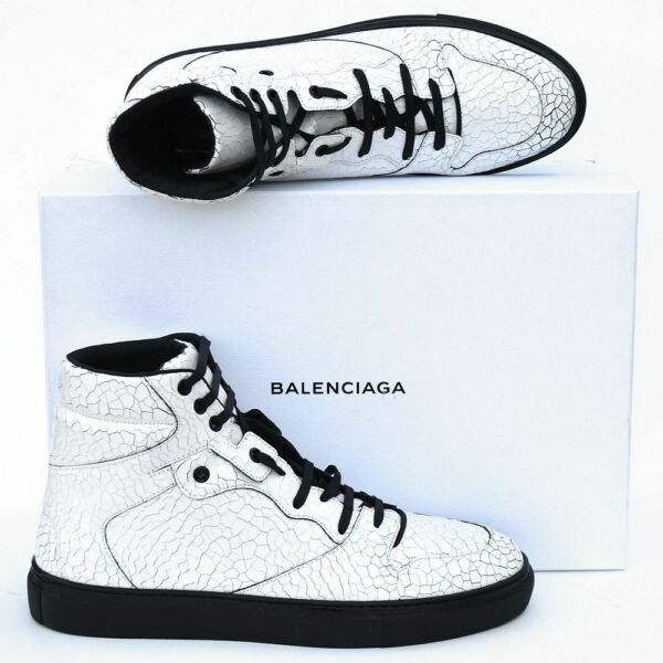 BALENCIAGA New sz 40 - 7 Authentic High Top Designer Mens Sneakers Shoes white
