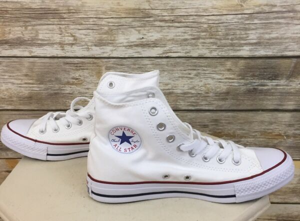 New Converse All Star Chuck Taylor Women's White Classic High Top Shoes Sz 8