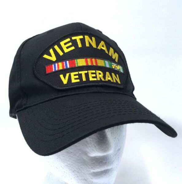 VIETNAM VETERAN Embroidered Patch Baseball Hat Service Campaign Ribbons Cap  c6