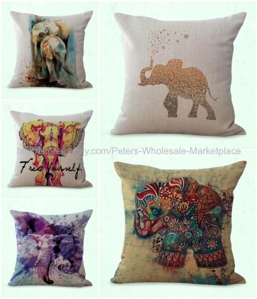 set of 5 cushion covers lucky Indian elephant patio furniture cushion covers $31.99
