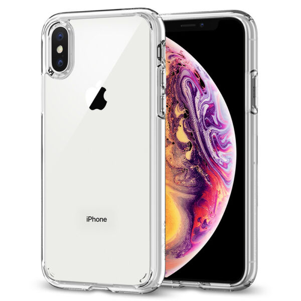 iPhone XXS XS Max XR Case Spigen® [Ultra Hybrid] Protective Clear Cover