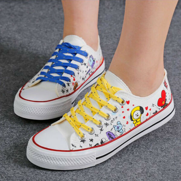 US STOCK! Bangtan Boys Same Style Shoes Canvas Shoes Chuck Taylor Casual Unisex