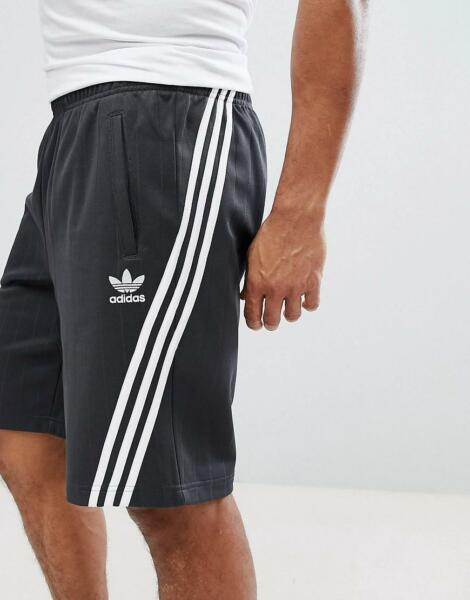 Adidas Originals Wrap 90s Retro Style Shorts Carbon Grey White CE4850 Msrp $60 L