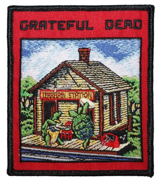 Grateful Dead Terrapin Station Embroidered Iron On Patch - Turtle 141-P