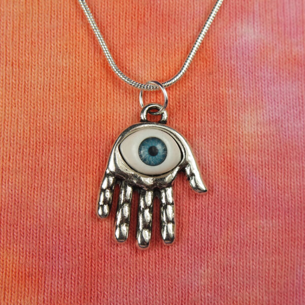 Eye in Hand Necklace Charm Pendant Symbol Jewelry Men Women Anti Evil Eye Nazar