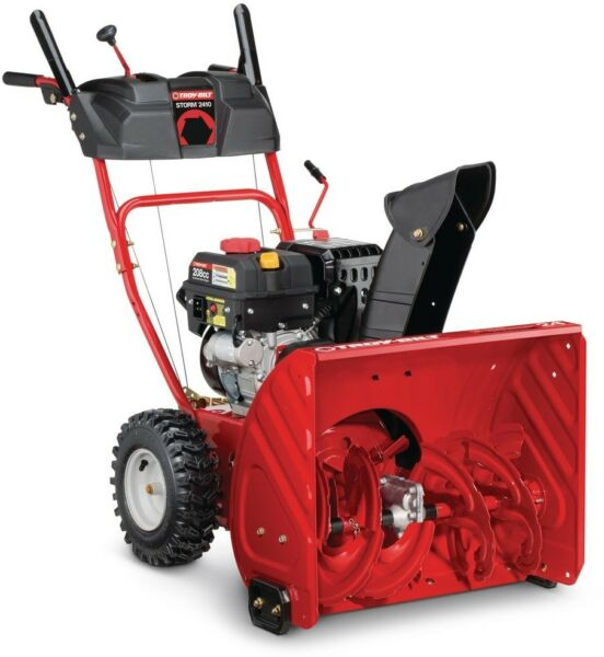 Troy-Bilt Gas Snow Blower Self Propelled Electric Start 24 in. Two-Stage 208cc