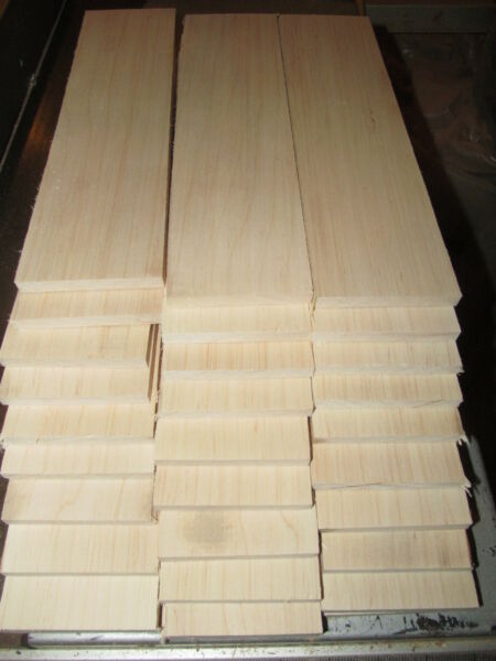 TEN 10 PIECES THIN KILN DRIED SANDED MAPLE 12 X 4 X 1 4quot; LUMBER WOOD $29.95