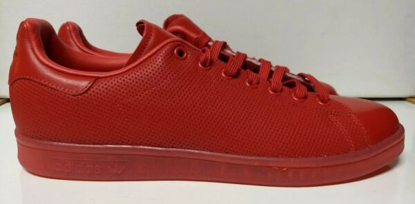 Adidas Stan Smith Size 10.5 Red Adicolor Mens Sneaker Shoe S80248
