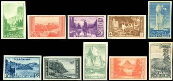 US 1935 Farley National Parks Set Stamps 756 765 10 Mint MNH NH NGAI JP1
