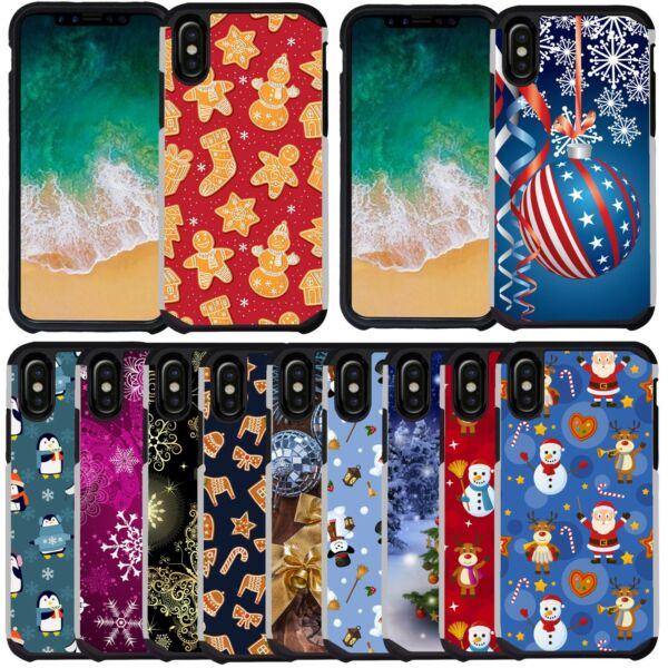 For iPhone 11 11 Pro Max XS XR Case Christmas Holiday Winter Design Phone Cover $9.99