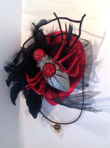 KATHERINE'S COLLECTION RETIRED FUN UNIQUE HALLOWEEN PARTY SPIDER HAT RED $36.12