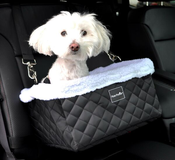 Peak Pooch Luxurious Dog Doggie Booster Basket Car Seat Bed for Small Dogs $29.99