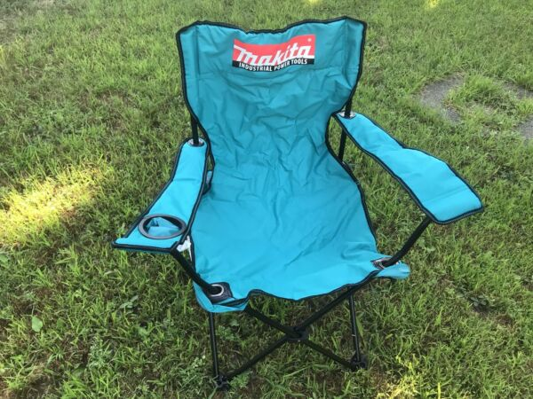 New Set of 4 Makita Industrial Power Tool Camping/lawn Chairs Discontinued Rare