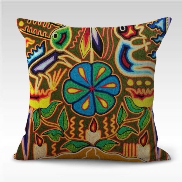 Mexican folk art print patio furniture cushion covers $14.99