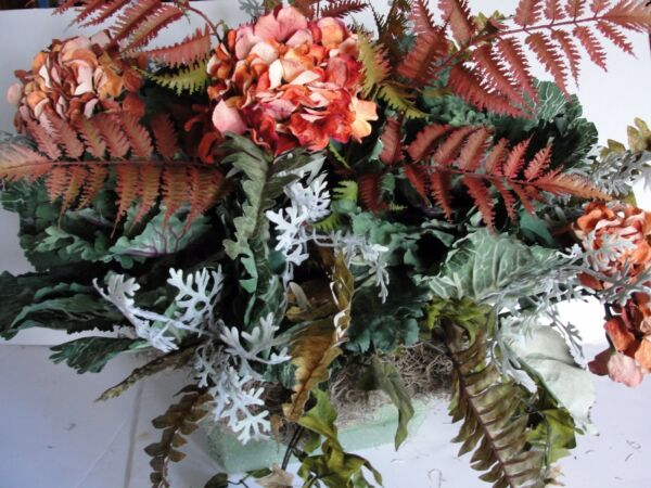 Rustic Fall Tuscan Silk Flower Arrangement for your 18-24