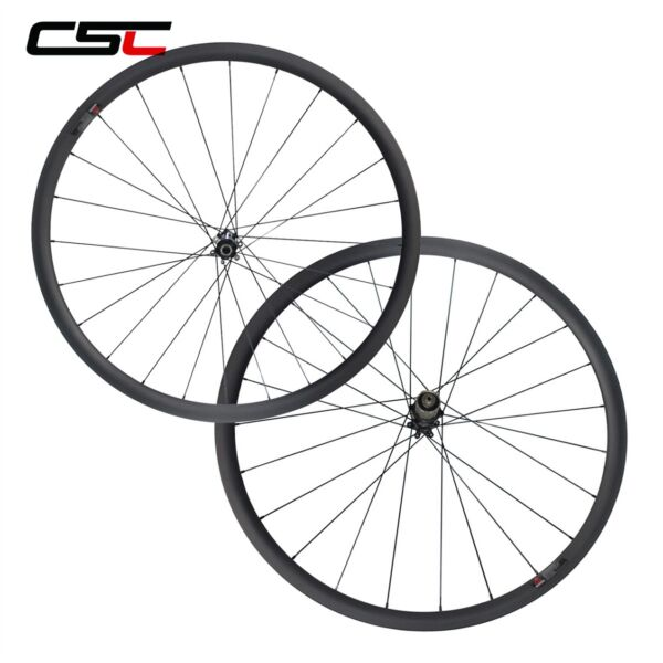 Center Lock Carbon Cyclocross Straight Pull Wheelset Clincher Tubeless U Shape