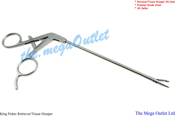 King Fisher® Retriver & Tissue Grasper 4.2mm Premium Steel UK Seller