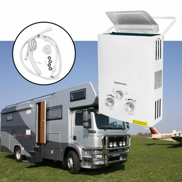 2 GPM 6L Portable Tankless Hot Water Heater RV#x27;s amp; Campers Propane Gas LPG 12KW $75.98